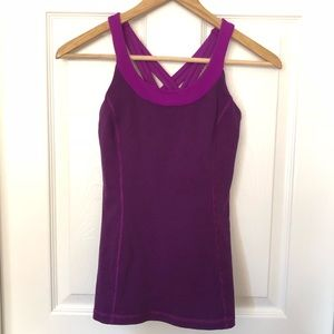 Lululemon Criss Cross Back Tank Top Sz 4